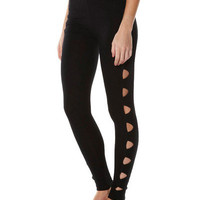 SURFSTITCH - WOMENS - BASICS - MINKPINK CUT IT OUT LEGGINGS - BLACK