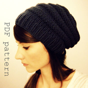 Slouch hat PATTERN To Market by KittyDune on Etsy