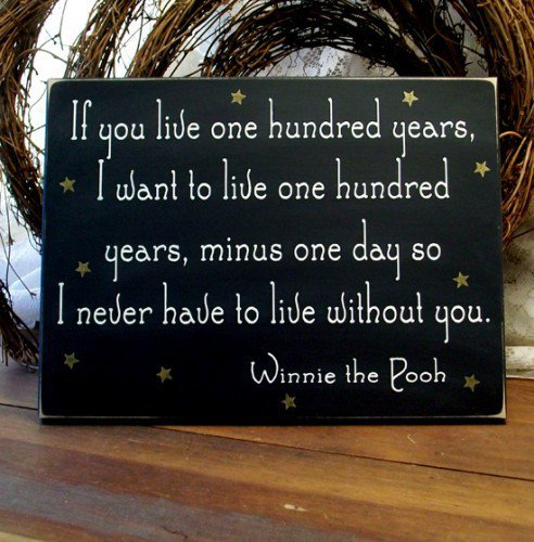 If you live one hundred years Wood Sign Nursery | CountryWorkshop - Folk Art & Primitives on ArtFire