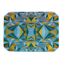 "Nika Martinez ""Abstraction Blue & Gold"" Place Mat 