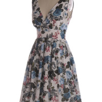 May Flowers Dress in Blue/White - $74.95 : Indie, Retro, Party, Vintage, Plus Size, Convertible, Cocktail Dresses in Canada