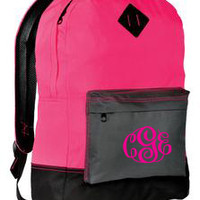 Monogrammed Back Pack | School Accessories | Marley Lilly