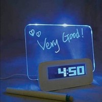 GNG Message Board Digital Alarm Clock with LCD Calendar 4 Port USB Hub
