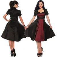 RETRO 50'S ROCKABILLY SWING PINUP VINTAGE COCKTAIL PROM EVENING FORMAL DRESS