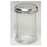 5.25in High Glass Flip Cap Glass Sugar Dispenser W/metal Lid