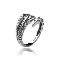 925 Sterling Silver Dragon Claw Ring