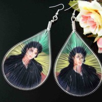 127A5-1 Michael Jackson Waterdrop Thread Hook Dangle Earrings Jewelry AH120703