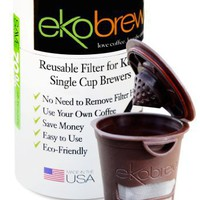 ekobrew Cup, refillable filter for Keurig Brewers, Brown, 1-Count