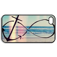 Infinity Anchor Hard Plastic Back Cover Skin for iphone 4 4s:Amazon:Cell Phones & Accessories
