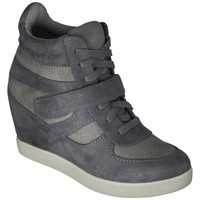 Women's Xhilaration® Shayenne High Top Wedge - Blue Grey