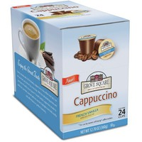 Grove Square Cappuccino Cups, French Vanilla, Single Serve Cup for Keurig K-Cup Brewers, 24 Count
