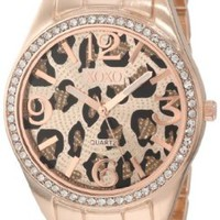 XOXO Women's XO5638 Rose Gold-Tone Leopard Dial Bracelet Watch:Amazon:Watches