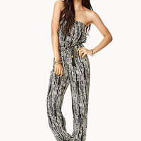 Abstract Splatter Jumpsuit w/ Belt