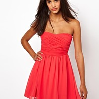 ASOS Soft Bandeau Skater Dress at asos.com