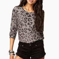 Animal Print Raglan Top | FOREVER 21 - 2025230773