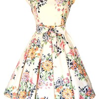 Soft Pink Floral Swing Dress