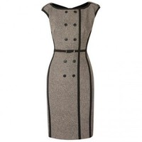 Woollen Animal Print Dress - Women's Dresses - Apparel