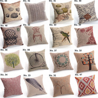 "New Fashion Hold Cushion Cover Pillow Case Waist Pillow Cotton 18"" Decor"