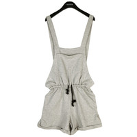 Jersey Suspender Shorts with Drawstring Waist