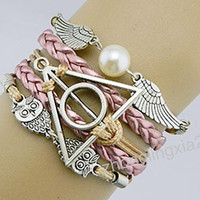 Angel wings,Steampunk,pansy,Snitch Wing Bracelet,Harry Potter Bracelet,Owls Bracelet,promotion time a month (August 13-September 1, 2013.)