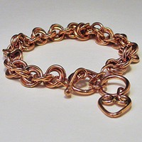 Copper Double Chain Link Bracelet | LaraJordanJewelry - Jewelry on ArtFire