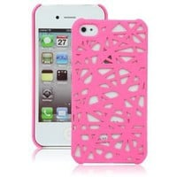 Hot Pink Birds Nest Case for Apple iPhone 4, 4S (AT&T, Verizon, Sprint)