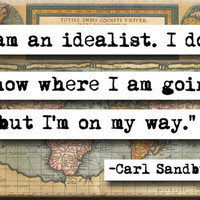 Carl Sandburg Quote Magnet no152 by chicalookate on Etsy