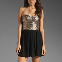 MINKPINK The Shining Sequin Mini Dress in Gold/Black from REVOLVEclothing.com