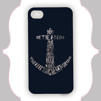 iPhone Case- Navy Blue Anchor Quote-iPhone 4 Case, iPhone 4s Case, iPhone 5 Case, Monogram Case, Personalized iPhone Case