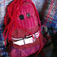 Boo - one of a kind rag doll with red hair | Linandara - Toys on ArtFire
