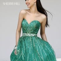 Sherri Hill Short Dress 8522 at Prom Dress Shop