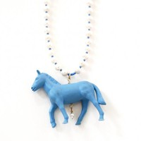 Horse and pearls necklace