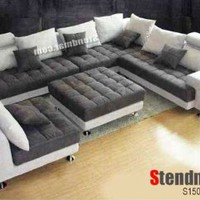 5PC NEW MODERN MICRO FIBER BIG SECTIONAL SOFA SET S150R