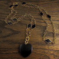 Black Heart Necklace | Shop | Erstwhile Jewelry Co.