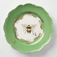 Natural World Dessert Plate, Bee