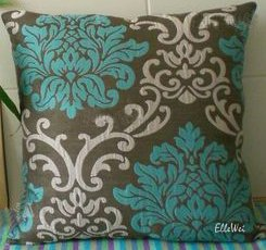 Decorative Modern Brown Cadetblue Throw Pillow Cover
