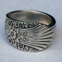 Spoon Ring Silver Mist Size 6 | DankArtistry - Jewelry on ArtFire