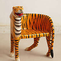 Anthropologie - Handcarved Bengal Chair
