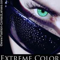 Flirtatious Green Extreme Color Contact Lenses