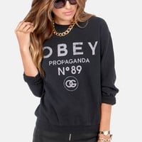 Obey '89 Washed Black Sweatshirt