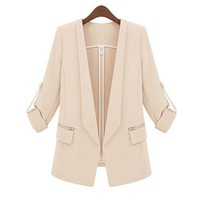 ZLYC Jamie Tailored Blazer with Zips