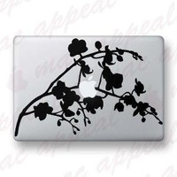 Orchid Branch Macbook Decal by macappeal on Etsy
