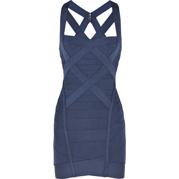 Blue Sexy Dress - Bqueen Cross-over Bandage Dress H032L | UsTrendy
