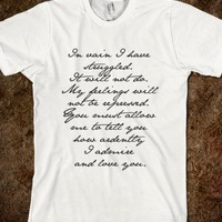 PRIDE AND PREJUDICE JANE AUSTEN MR. DARCY ENGAGEMENT SPEECH BLACK TEXT