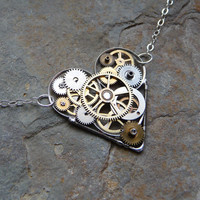 Clockwork Heart Necklace Ardor by amechanicalmind on Etsy