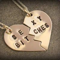 Sexy Bitches Necklaces  Best Friend Jewelry  BFF by SometimesTwice