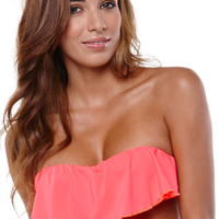LA Hearts Ruffle Bandeau Top at PacSun.com