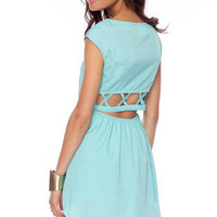 Nexxt Summer Dress in Light Blue :: tobi
