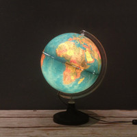 Light Up Illuminated World Globe