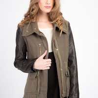 Two Tone Army Jacket - CLOTHING